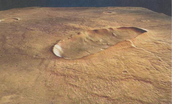 Krater auf dem Mars