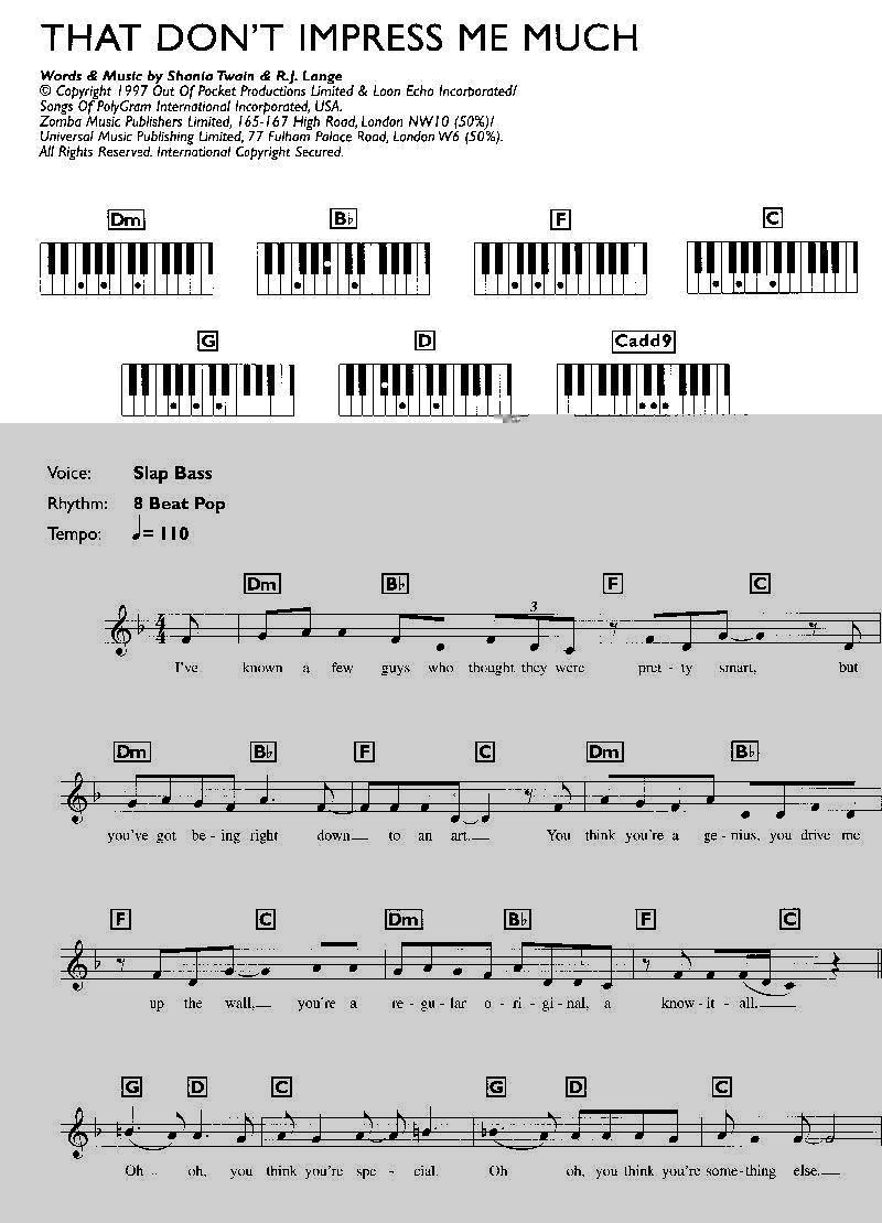 Keyboardnoten